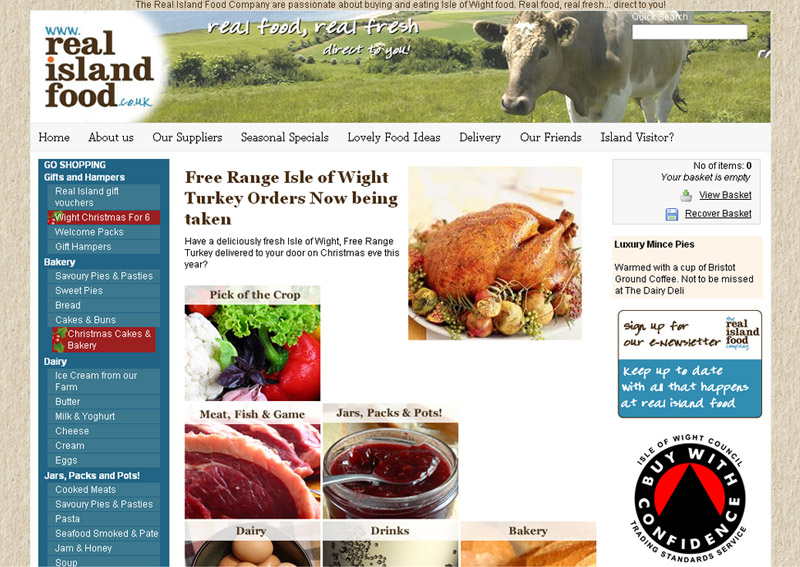 Real Island Food Company Web